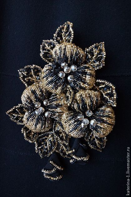 Вышитая бисером брошь ВОСЬМОЕ ЧУВСТВО. Handmade. #brooch #beads #jewelry