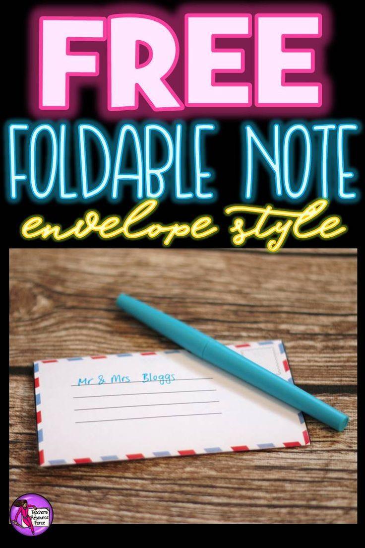 "Do you enjoy sending notes home to your students and want some creative and cost effective ways of doing it? The cost of cards can go up significantly when you're buying for a whole class and scraps of paper don't scream ""special"", so here's a perfect solution: foldable notes that look like little envelopes that you can simply print onto paper! You can get this for free right now by clicking the ""visit site"" button!"