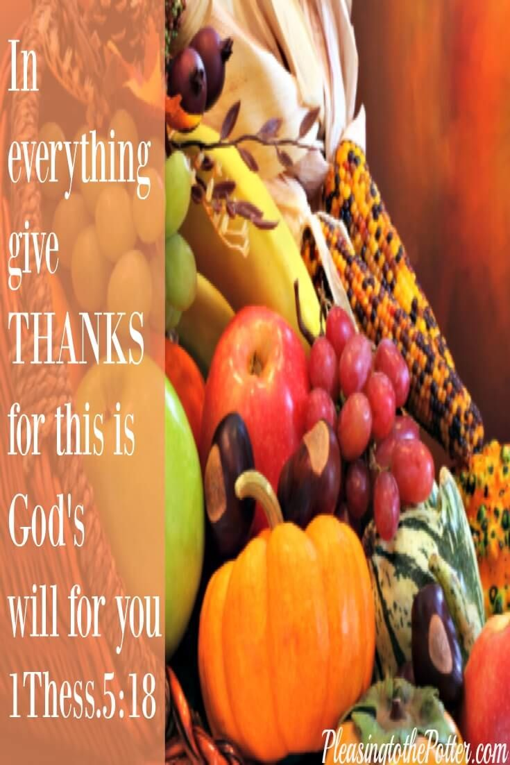 We have so much to be thankful for. Thank God for His abundant blessings.