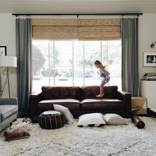 25 Brown Sofas That Dont Make Us Feel Sad Leather CouchesSofa StylingBlue Living RoomsLiving