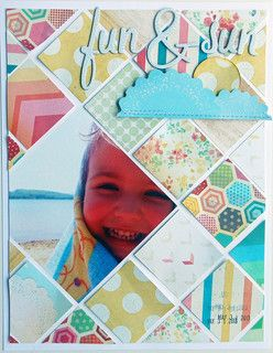 fun & sun by ginny at Studio Calico Lovely use of mix of paper scraps