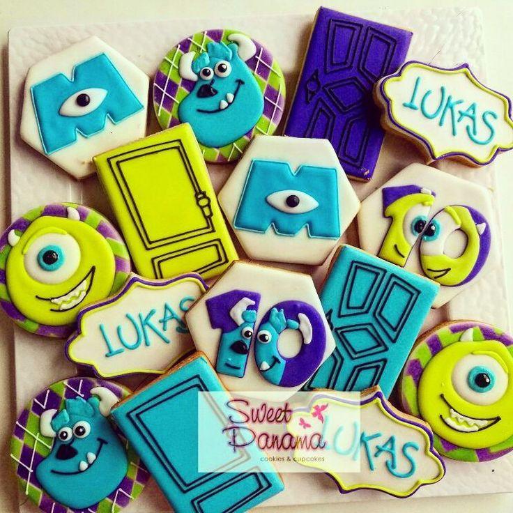 "94 Likes, 4 Comments - Sweet Panama (@sweet.panama) on Instagram: ""Monsters Inc! #decoratedcookies #galletaspanama #galletasdecoradas #royalicing #bakery…"""