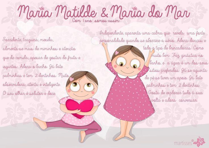 Nós e as Marias: Um Ano... Parabéns Marias!!!
