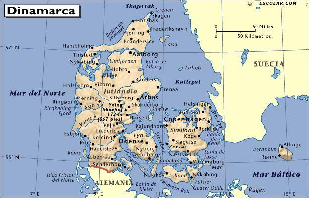 mapa de dinamarca - Buscar con Google