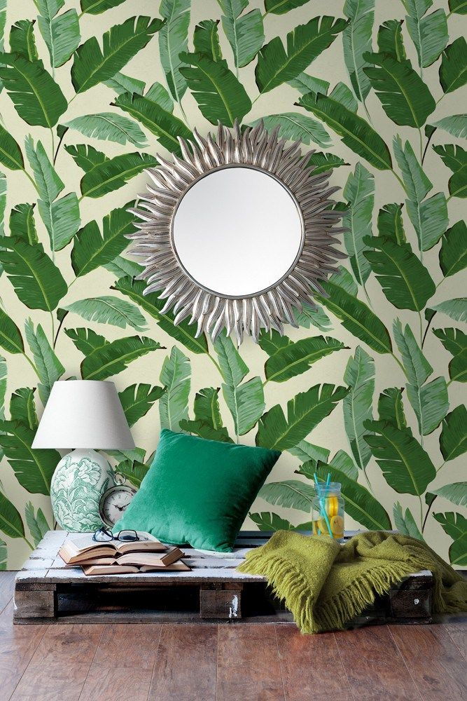 Botanical Wallpapers & How To Use Them | This Banana Leaves design is by the wonderful wallpaper designers Mind The Gap. It's bang on trend adding some Greenery vibes to your homes with a tropical feel. Its actually easier to use in your homes than you think.