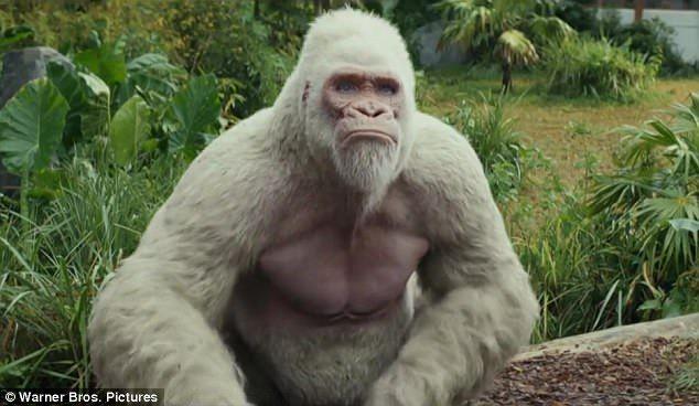 Dwayne Johnson Tries To Save Big Gorilla George In New Rampage