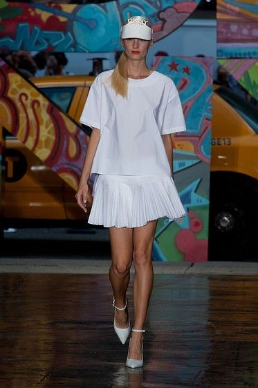 A look from DKNY's sporty Spring 2014 collection #NYFW #SPRING2014