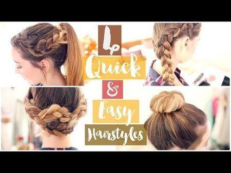 4 Quick & Easy Hairstyles - #hairstyles #hair #hairtips #hair #easyhair