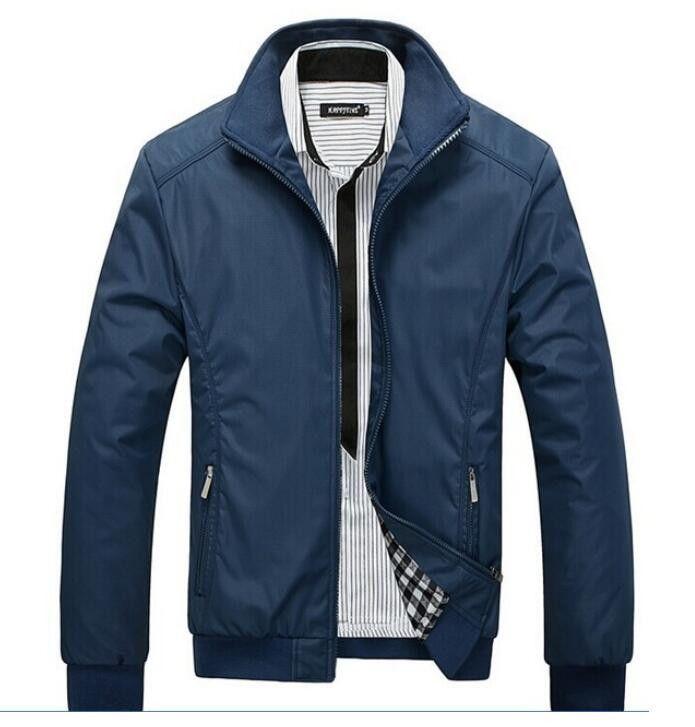 2016 spring solid slim mens jackets coats casual bomber jacket men M-5XL chaquetas hombre men fashion jacket parka windbreaker