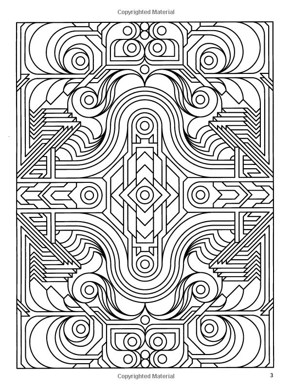 deco tech geometric coloring book john wik coloring books for adults