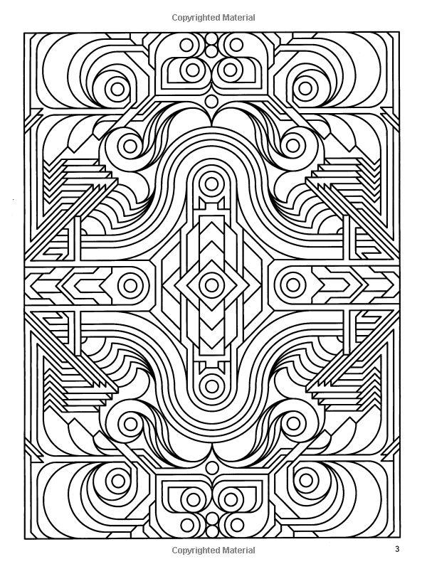 art deco coloring pages - photo#31