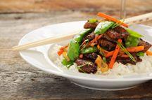 Jasmijnrijst met krokante tofu en broccoli