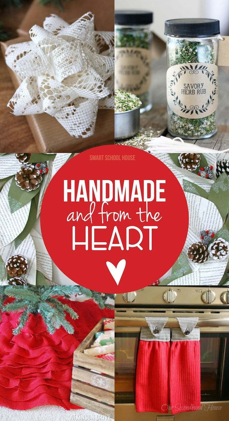 Handmade and from the Heart. Handmade gift ideas.
