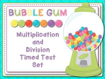 "Looking for a fun way for you students to master their multiplication and division facts? This set is for you! This No-Prep set includes:Bubble Gum Machines for Self Tracking (5 options)20 Problem Multiplication Papers for Facts from 2-1220 Problem Division Papers for Facts from 2-1250 Problem Multiplication Papers for Facts from 2-1220 Problem Division Papers for Facts from 2-12Completion CertificatesIn no time your students will be ""POPPING"" through their facts!!"