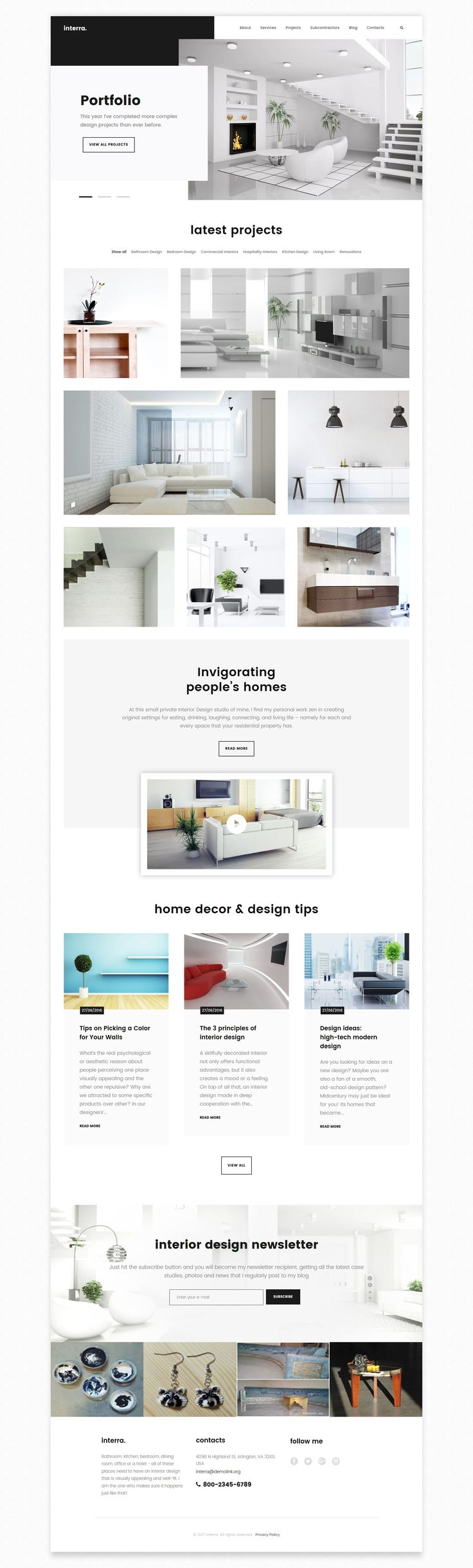 Interra   Interior Designer Portfolio WordPress Theme