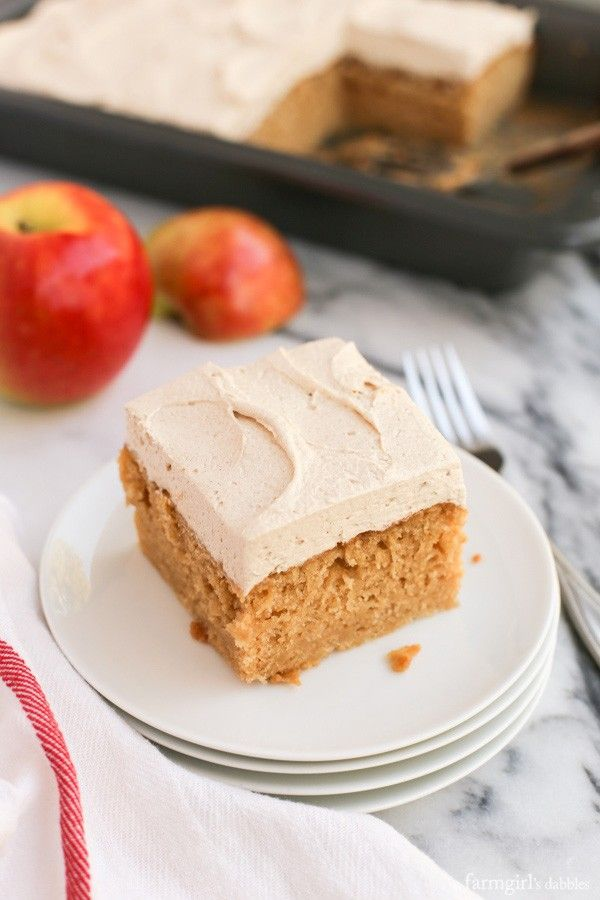 Apple Cake With Spiced Buttercream