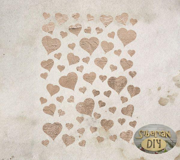 "Laser Cut Plastic Stencil Mask ""Hearts"" by SiberianDIYcraftsArt on Etsy"