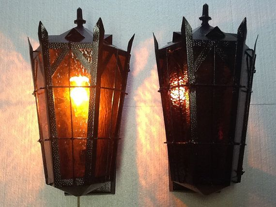 Pair Large Antique Wall Sconces Outside Porch Lights