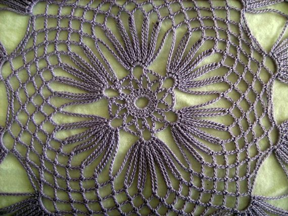 Lilac Crochet Table Doily 125 Inch Diameter by KnitsForKids, $40.00