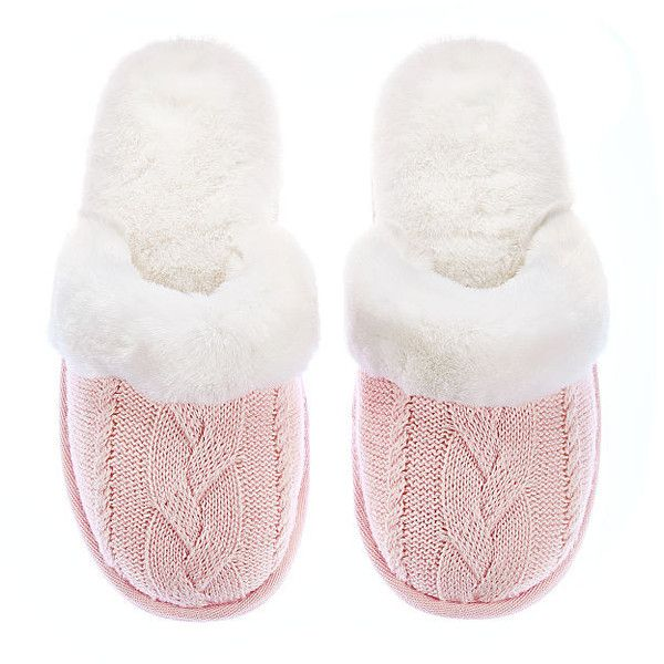 Victoria's Secret The Cozy Slipper found on Polyvore featuring intimates, hosiery, socks, shoes, slippers, flats, pajamas, shoes - slippers and victoria's secret