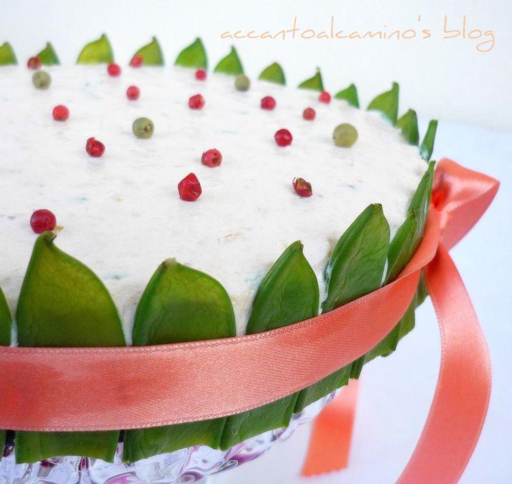 Cheesecake con salmone affumicato.