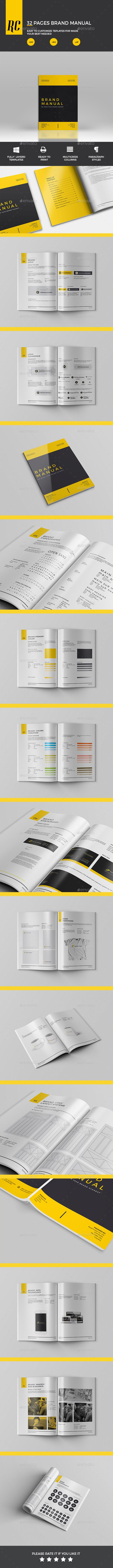 Brand Manual  -  InDesign Template • Only available here! ➝ https://graphicriver.net/item/brand-manual/12340303?ref=pxcr