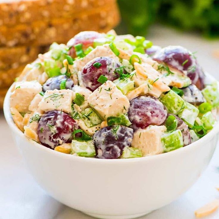 "7,866 Likes, 30 Comments - Fit Healthy Recipes DIY Videos (@fithealthyrecipes) on Instagram: ""Skinny Greek Yogurt Chicken Salad ~ by @wellplated❤️ @wellplated ~ 3 cups 1/2-inch-diced cooked…"""