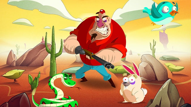 Snacksss is a fast paced mobile game for iOS handheld devices created by Saizen Media and First Post Studios. Choose your favorite character among the list of available snakes, fling your snake in the air and keep your combos going with mid-air attacks, but beware of the Hunter creeping behind the rocks, you will need to shake your rattler to scare him away. Keep an eye out for the hawk, he is very fond of snakes! Sharpen your senses and perfect your score!