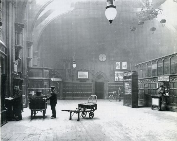 St Pancras booking hall c. 1900