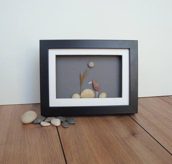Pebble Art Pebble Bird Picture Bird Lover Gift Nature Lover