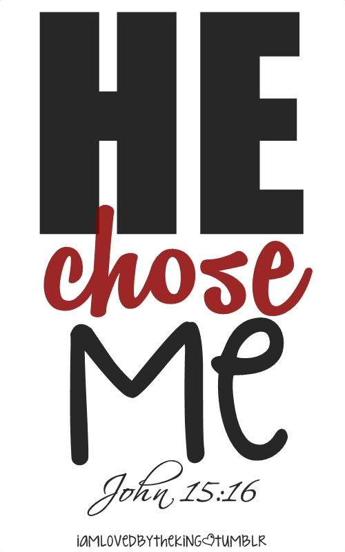 He chose me! I am forever and eternally grateful and thankful!!! <3