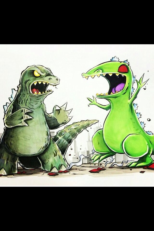 Godzilla vs Reptar by ... Reptar Vs Galactron