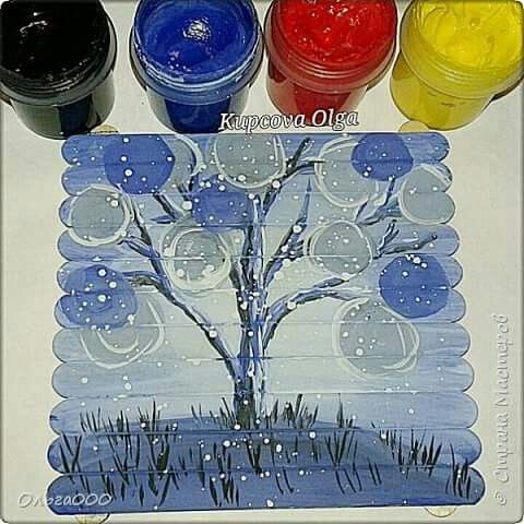 11 best ice cream stick painting art images on Pinterest ...