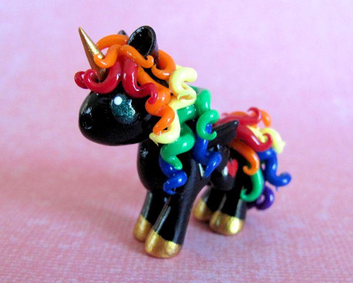 "Black Rainbow Pony ~ Becca Golins aka ""DragonsAndBeasties"""
