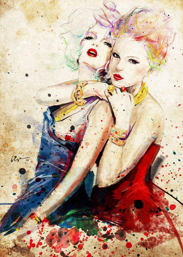 Floyd Grey Illustration Fashion 1 Floyd Grey : Illustrations Vectorielles de Mode