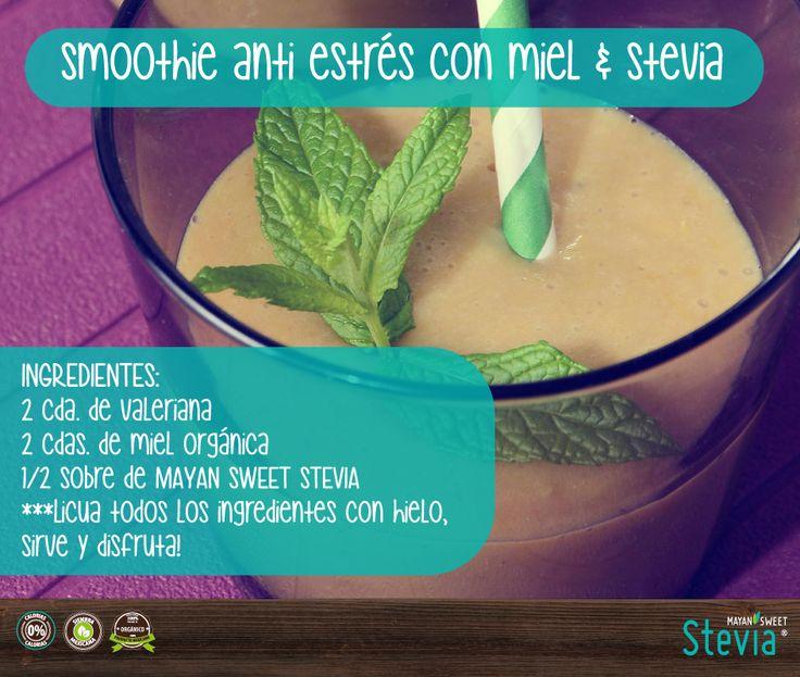 En nuestro miércoles de #Smoothie les traemos este poderoso #AntiEstres , recuerda que la #Stevia es un ansiolítico #Natural   Nuestra #Stevia tiene #PhNuetro