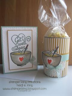 Feelin' under the weather? This stamp set is from Stampin' Up!, and is called Get Well Soup.