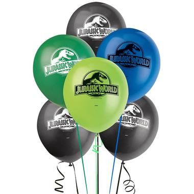 Add some height and color to your party decorations with these Jurassic World Latex Balloons! The package includes 8 latex balloons in 4 different colors. Please note: balloons ship flat.Includes (8)