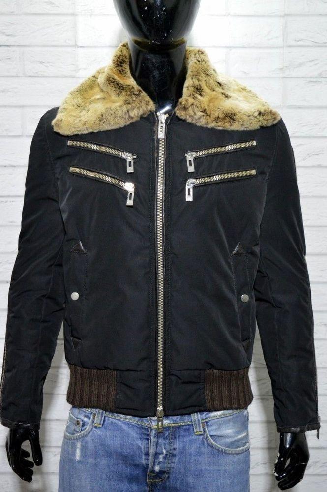 WILLIAMS WILSON Giubbotto Uomo Cappotto Taglia M Nero Jacket Man PIUMA D OCA  2 56442c0f7b9f