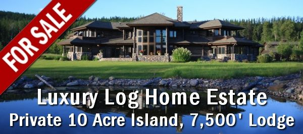 This island estate is for sale. Contact the Realtor for additional information or to make an appointment to view the home and tour the property. For more info, visit the website at http://www.logcabindirectory.com/luxury_log_home/