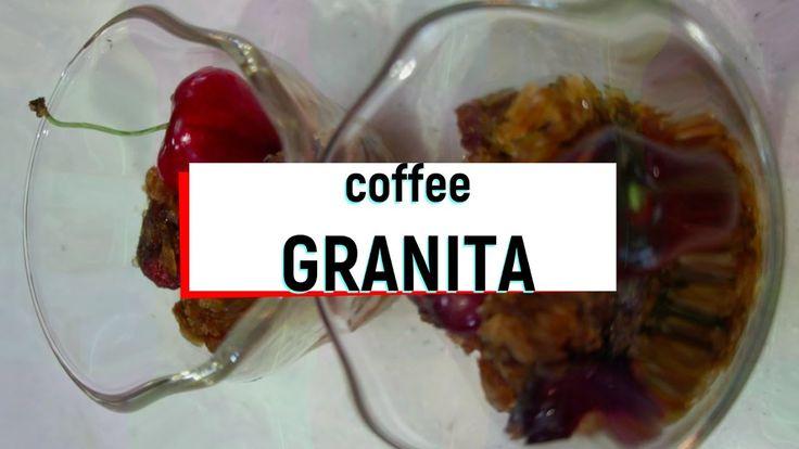 COFFEE GRANITA 이탈리아식 슬러시 만들기!