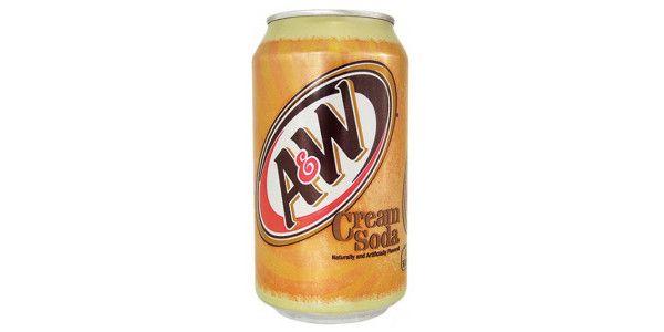A & W Vanilla Cream Soda 12 Oz Cans - Pack of 24