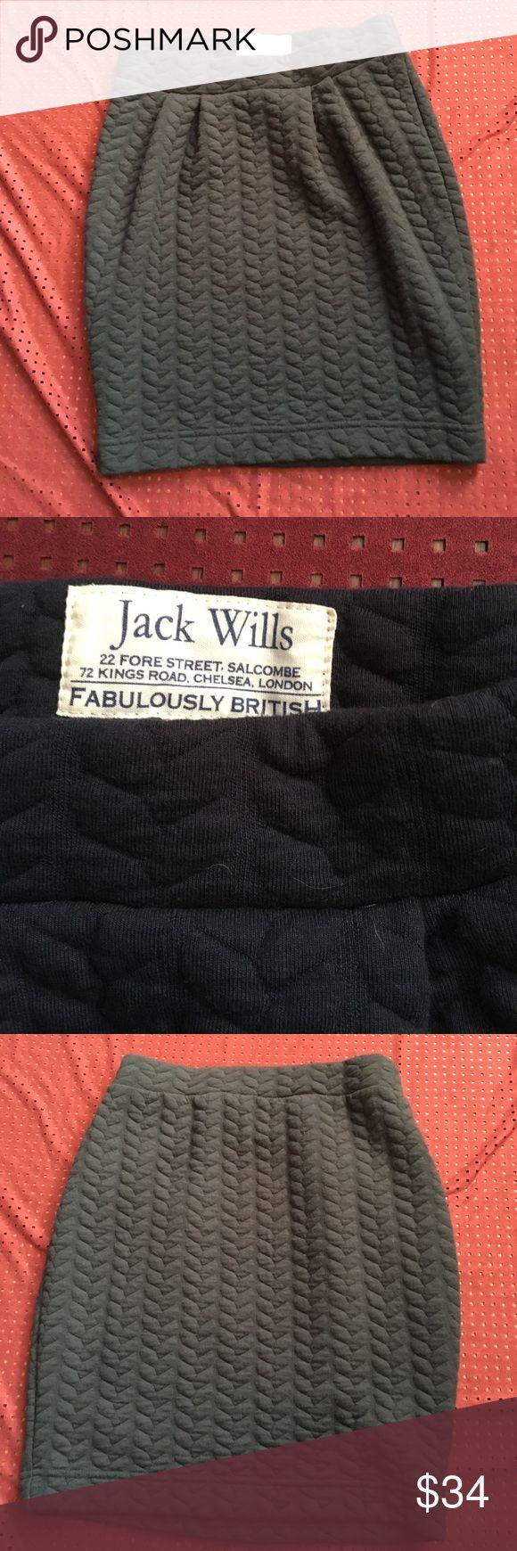 Jack wills heavy knit pencil skirt 59% polyester 34% cotton EUC navy Jack Wills Skirts Pencil