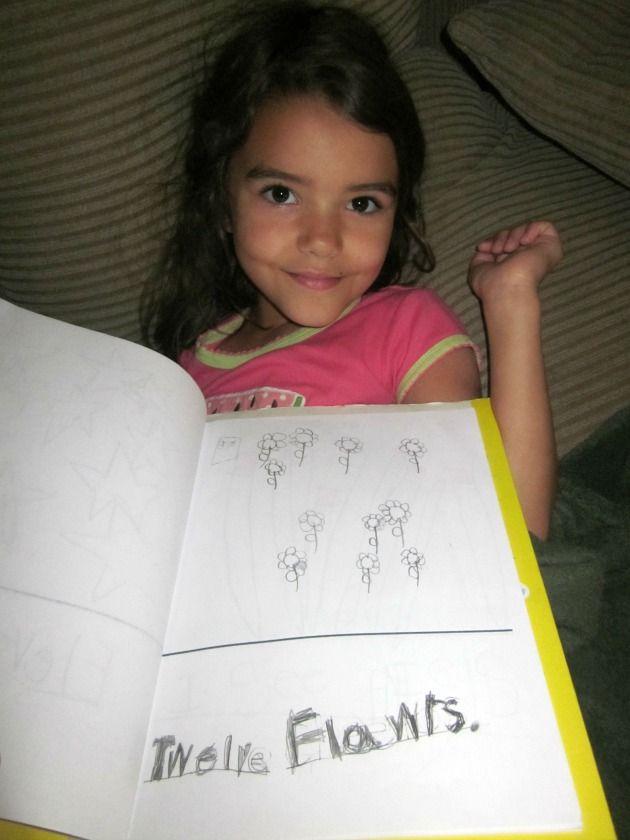 How to make a Kindergarten Summer Math Journal, a fun learning summer activity and 35 kindergarten math journal prompts your child can enjoy.