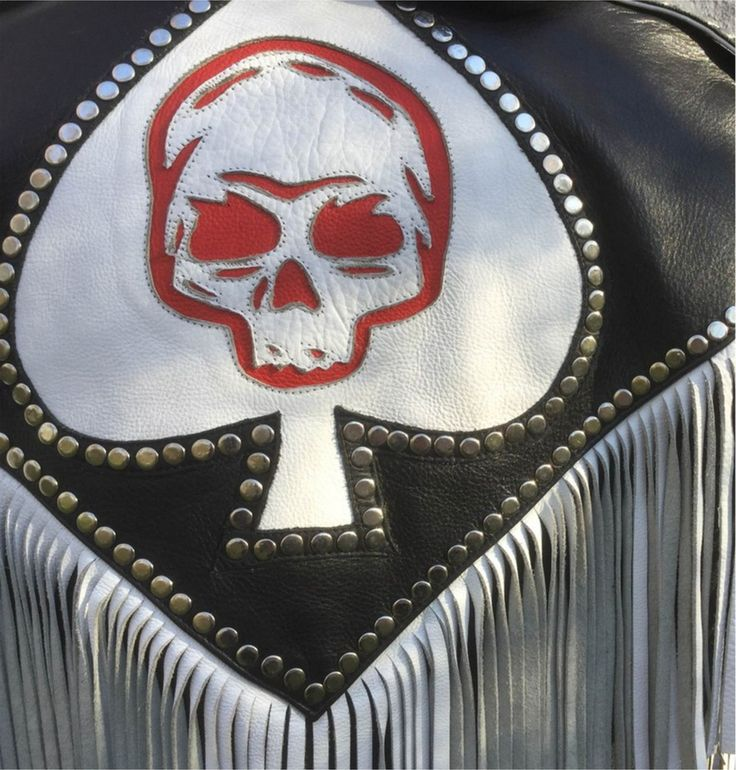 Image of Ace of spades vintage leather jacket