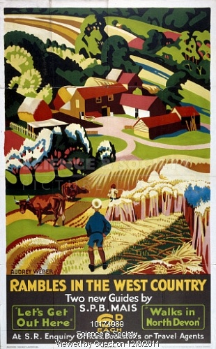 Memories of walking in the UK. Southern Railway poster. 1938