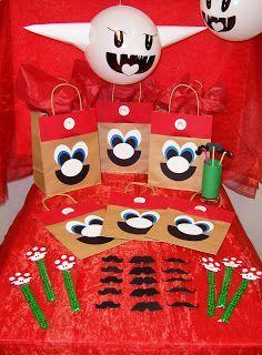 ideas para decorar fiesta de mario bros   De esta forma podrías lograr el rostro de Mario.