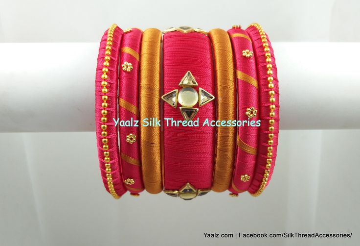 Yaalz Assorted Bangle Set In Dark Peach Pink & Gold Colors!! Price Rs.300 For Orders Ping Us In WhatsApp +91 8754032250
