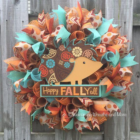 Fall Wreath Happy Fall Y'all Wreath  Thanksgiving