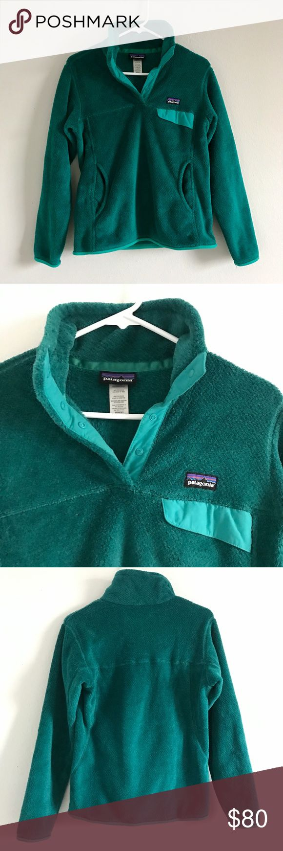 Patagonia Re-Tool Snap-T Fleece Pullover Teal Patagonia fleece in GREAT condition! No flaws, pilling, stains, or any other signs of wear--just didn't end up wearing it much this season! Patagonia Jackets & Coats